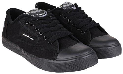Dunlop - Zapatillas de Lona para hombre negro