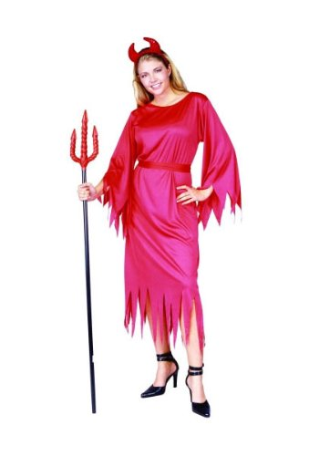 Costume Ladies Halloween Devil (RG Costumes Classic Devil Lady, Red, One)