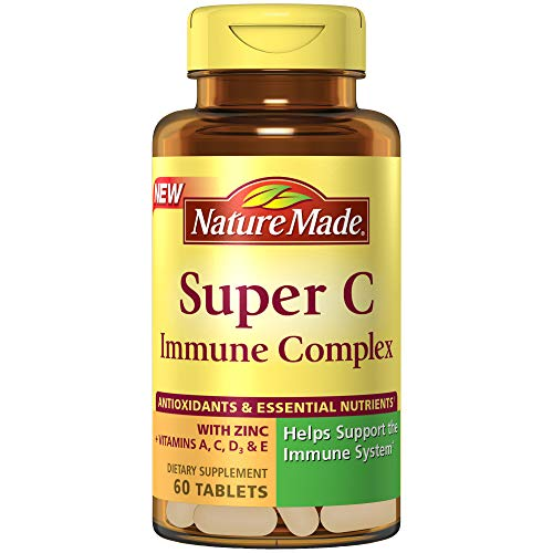 (Nature Made Super C Immune Complex Tablets with Vitamin C, D and Zinc, 60 Count to Help Support The Immune System†)