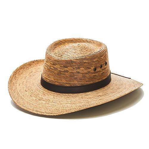 (Straw Cowboy Palm Leaf Hat, Sombreros para Hombres de Palma (Natural/No Strap))