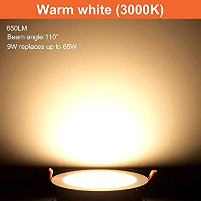 """9W 4"""" Ultra-Thin LED Recessed Ceiling Light,Dimmable,675lm,65W Equiv"""