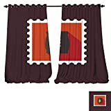 DESPKON-HOME Thermal Insulating Blackout Curtain Sack of Grain Flat Stamp with Long Shadow
