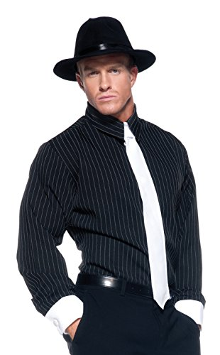 [Men's Mobster Costume - Striped Shirt] (Gangster Dresses)