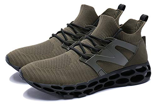 Running Sport Wonesion Baskets Sneakers Green Chaussures Hommes Course Casual Gym 3 army wOqqB1I