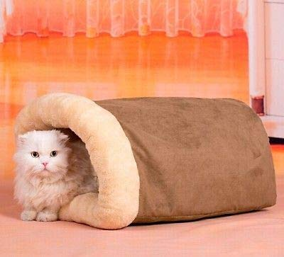FidgetFidget Paper Pet Dog New Warm Interesting Ring Cat Tunnel House Bed Sleeping Bag Size M