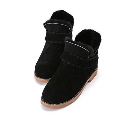 de neige chaud 90160CM bottes BLACK mouton bottes nouvelles femme peau NSXZ en hiver de renversant U8qIw