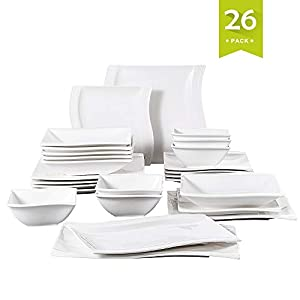 MALACASA, Series Flora, 26-Piece Dinner Set
