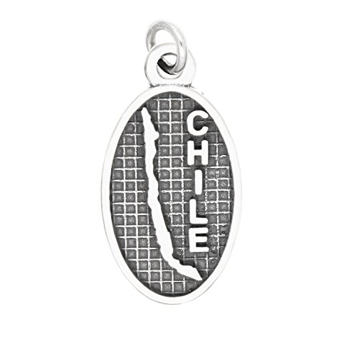 (Sterling Silver Oxidized Chile Travel Charm)