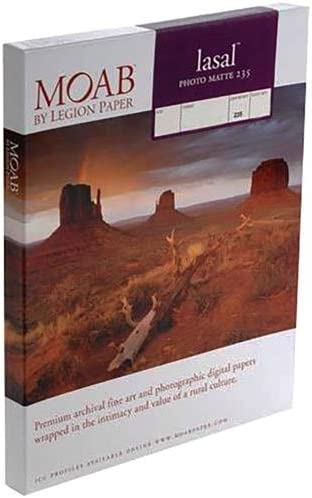 Moab Lasal Photo Matte, Double Sided, Bright White Archival Inkjet Paper (5