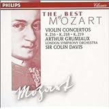モーツァルト : ヴァイオリン協奏曲第3番、4番、5番
