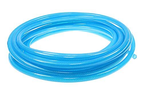 Coilhose Pneumatics PFE6100T Flexeel Reinforced Polyurethane Air Hose, 3/8'' ID, 100' Length, No Fittings, Transparent Blue, Polyurethane