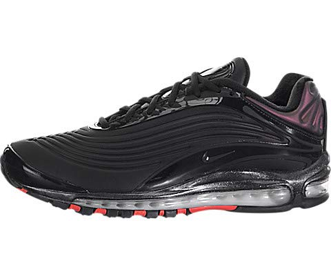 Nike Men's Air Max Deluxe Black/Anthracite/Bright Crimson Leather Casual Shoes 13 M US