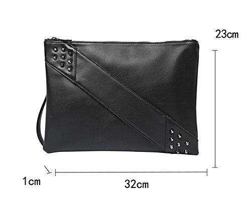 e borsa tracolla casual a uomini moda rivetti tela donne marea pochette Shuaige su Yq6R81