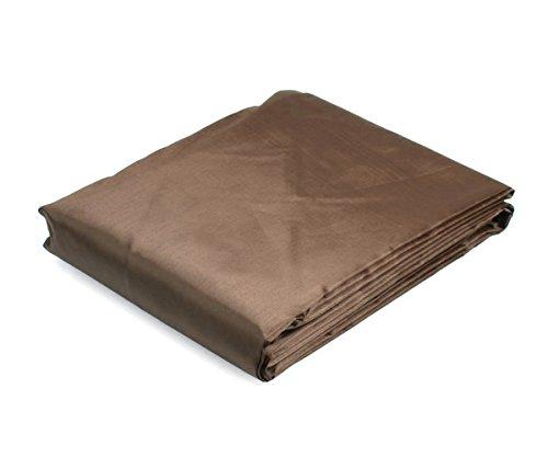 [8/9 FT Foot Rip Resistant PVC Pool Table Billiard Cover With Elastic Corners (Coffee, 9 FT)] (Billiards Corner)