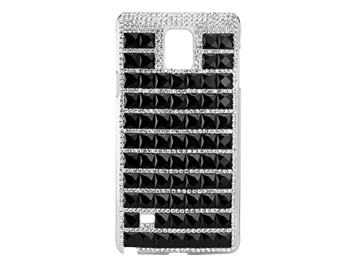 Cellet Fancy Lux Crystal Series Proguard Clear Cover Case for Samsung Galaxy Note 4 - Black