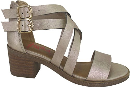 Allison Sandal (Jellypop Girls Allison Dress Sandals 2 Metallic Gold)