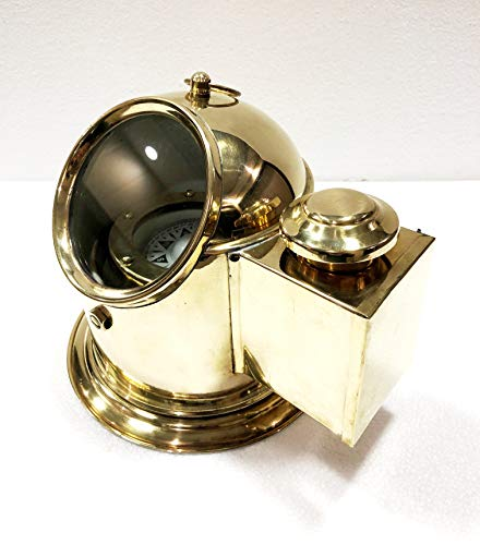 Antique Vintage Brass Floating Dial Binnacle Gimbled Compass Nautical Ship/Boat Oil Lamp by Antique (Image #3)