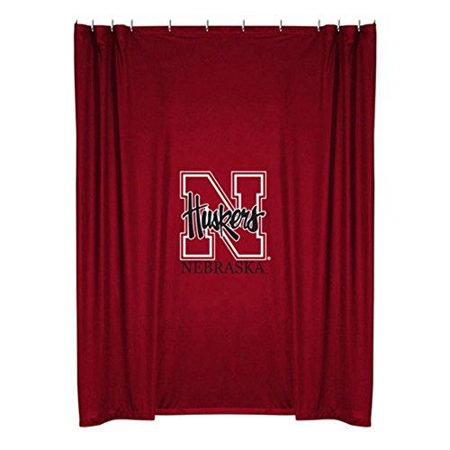 ege Shower Curtain - Nebraska (Sports Coverage Shower Curtain)