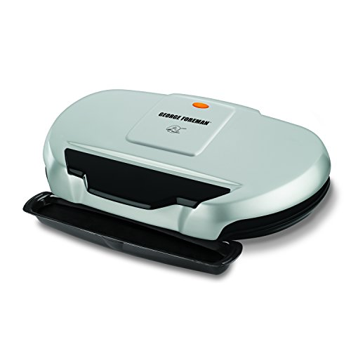 George Foreman GR144 Nonstick 9 Serving Classic Plate Grill, 133-Square-Inch, Silver