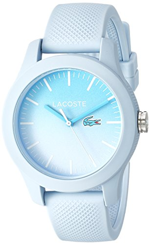 Lacoste Women's 'L.12.12.' Quartz Resin and Silicone Casual Watch, Color:Blue (Model: 2000989)