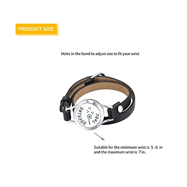 Mesinya Just Breathe 316L s.Steel Essential Oils Diffuser Locket Bangle Bracelet