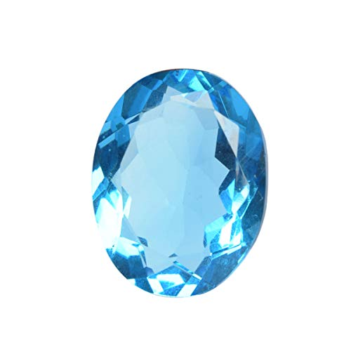 Faceted Blue Topaz 66.80 Ct. Perfect Oval Cut Loose Gemstone for Jewelry Making