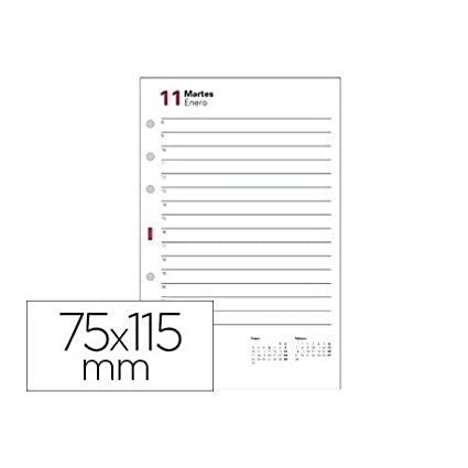 Recambio agenda finocam 601 anualidad -115x75 mm 2 dias ...