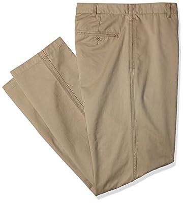 Calvin Klein Men's Big and Tall Soft Wash Dylan Chino Pant, Classic Khaki, 42W 32L