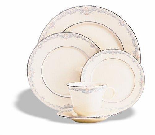 Lenox Kingston 5-Piece Platinum-Banded Dinnerware Place Setting, Service for - 5 Garland Setting Place Piece
