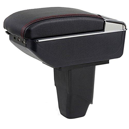 Reposabrazos para consola central de coche con 7 puertos inteligentes USB para Peugeot 206 207 2006 – 2013 reposabrazos de...