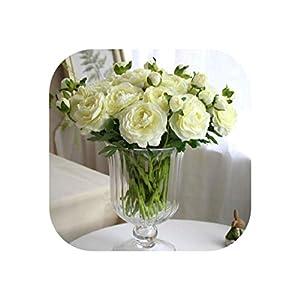 11 Pcs/Lot Artificial Peony Bouquet Flores Artificiales Rose Flower Silk Flowers for Home Wedding Autumn Decoration 29