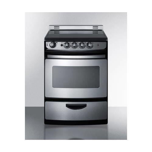 Summit REX245SSRT Kitchen Cooking Range, Stainless-Steel