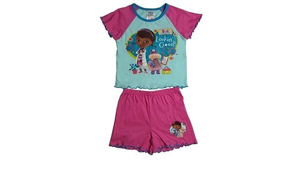 59e142d608 Disney Doc McStuffin Girls Shortie Pajama 4-5 Years  Amazon.ca  Clothing    Accessories