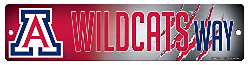 Rico NCAA Arizona Wildcats 16-Inch Plastic Street Sign (Arizona Wildcats Wall)