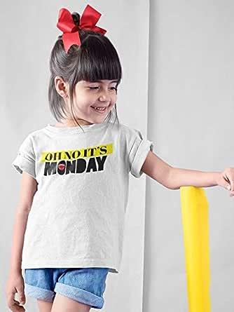OH No its Monday aTIQ T-Shirt for Girl, 28 EU