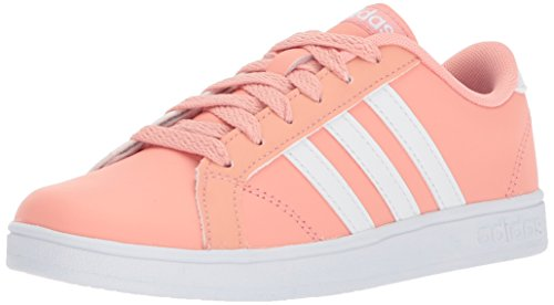 adidas Originals Unisex-Kids Baseline, Trace Pink/White/White, 11 M US Little Kid
