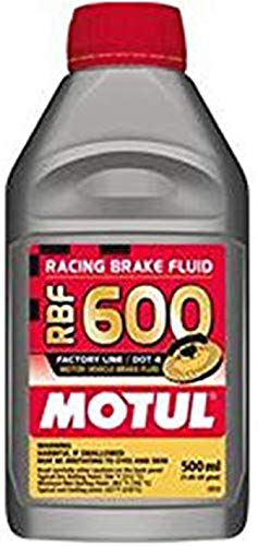 Racing Universal Spec - Motul std color MTL100949 8068HL RBF 600 Factory Line Dot-4 100 Percent Synthetic Racing Brake Fluid-500, 500 ml