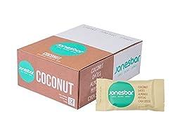 Jonesbar, Simple Organic Energy, Coconut, 1.7oz, Pack of 12