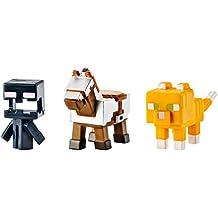 Minecraft Mini Figure 3-Pack, Armored Horse, Screaming Enderman & Tabby Cat