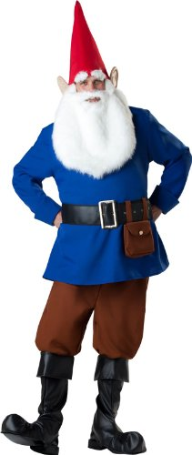 InCharacter Costumes Men's Mr. Garden Gnome Costume, Blue/Tan, Medium (Gnome Halloween Costume)