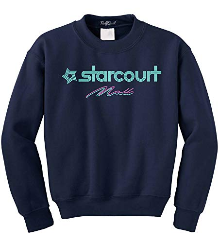 NuffSaid Hawkins Starcourt Mall Crewneck Sweatshirt - Unisex AV Club Crew (XLarge, ()