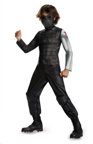 Disguise Marvel Captain America The Winter Soldier Movie 2 Winter Soldier Classic Boys Costume, Small (4-6)
