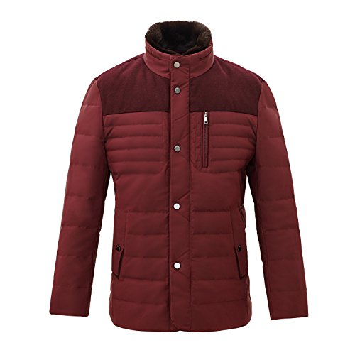 Detachable Not Down Is With Inside included Collar Collar Bosideng Men Maroon Jacket The Premium wBqSSXTPa