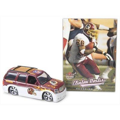 (Washington Redskins 2005 NFL Diecast 1:64 Escalade with Clinton Portis Fleer Ultra Card)
