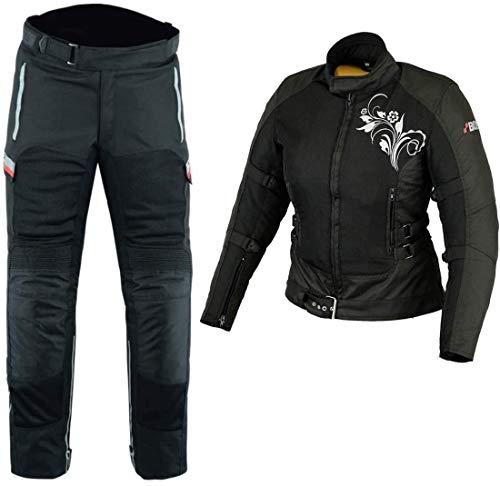 BOSMOTO Bikerkombi Zweiteiler Für Damen Motorradkombi Schwarz