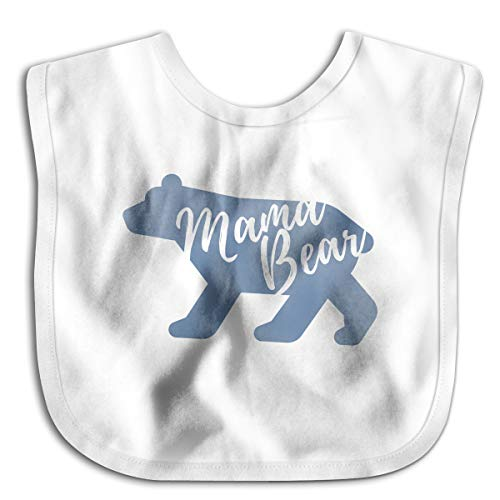 Mama Bear Funny Baby Bibs Burp Infant Cloths Drool Toddler Teething Soft Absorbent ()