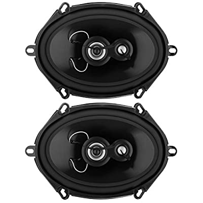 Planet Audio TRQ573 5 x 7 Inch Car Speakers - 300 Watts of Power Per Pair, 150 Watts Each, Full Range, 3 Way, Sold in Pairs: Car Electronics