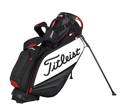 Titleist 2014 Staff Stand Bag Black White Red Golf