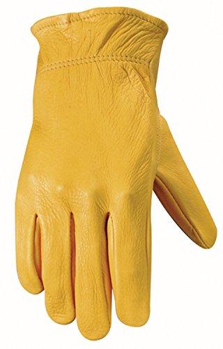 (Wells Lamont Women's Leather Work Gloves, Grain Deerskin, Small (987S))