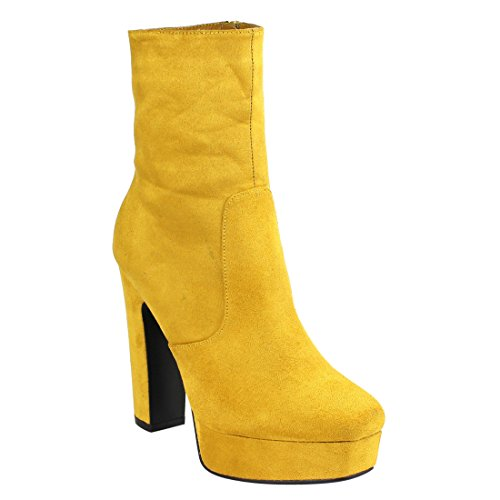 Yellow Platform Shoes - 1